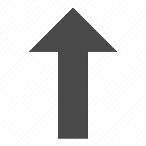 arrow, ascending, direction, up arrow, uphill, upload icon