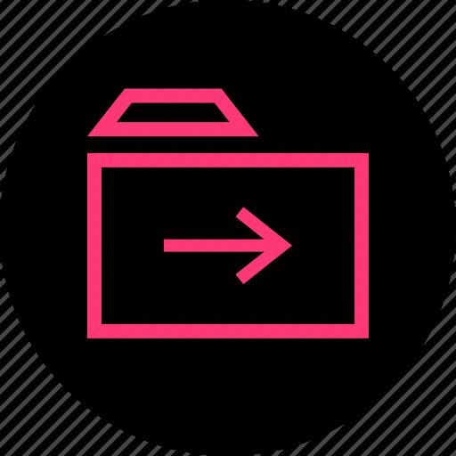 archive, forward, go, save icon