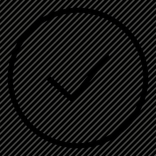 accept, check, circle, interface, ok, tick icon