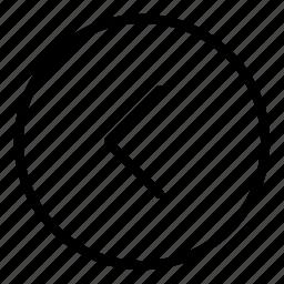 arrow, arrows, circle, interface, left arrow icon