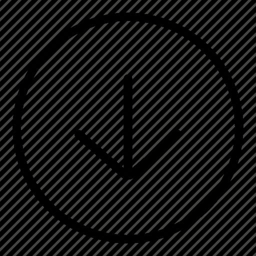 arrow, arrows, direction, directional, down arrow, downloading icon