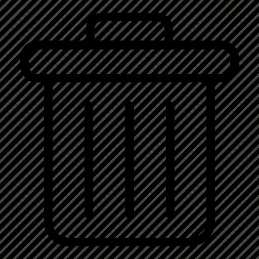 delete, garbage bin, garbage can, interface, rubbish bin, trash icon