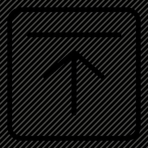 arrow, file upload, interface, up arrow, upload, uploading icon