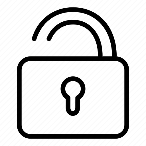 locked, padlock, protection, secure, security, unlock icon
