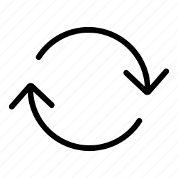 arrows, circular arrow, direction, orientation, refresh, reload icon