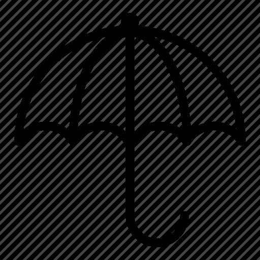 meteorology, protection, rain, umbrella, weather icon