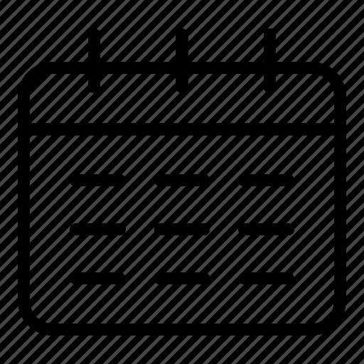 administration, calendar, calendars, organization icon