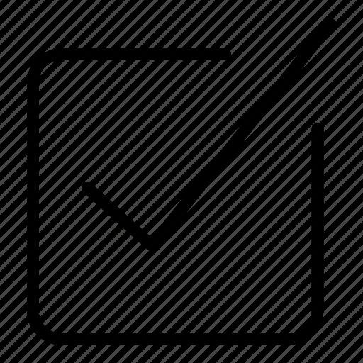 check mark, check square, checking, interface, option, tick icon