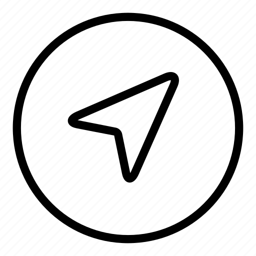 arrow, compass, cursor, direction, navigation, pointer icon