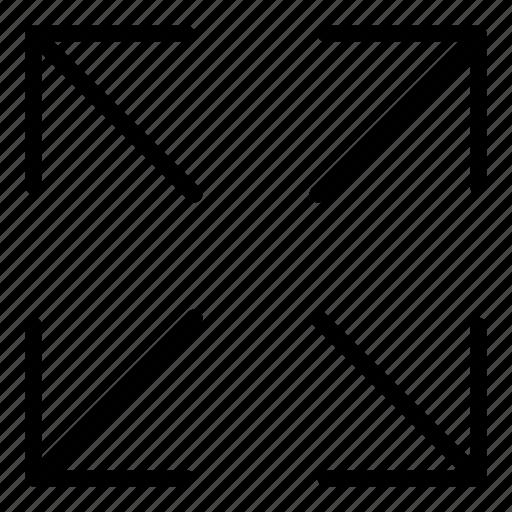 arrows, diagonal arrows, direction, multimedia option, orientation icon