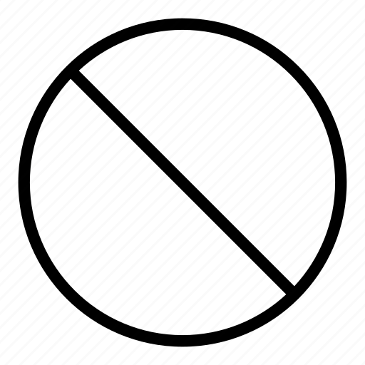 ban, banned, cancel, circle, diagonal, sign icon