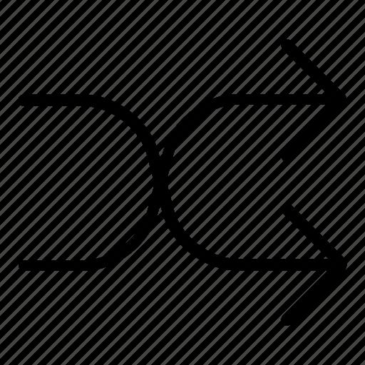 arrows, change, changing, exchange, random, shuffle icon
