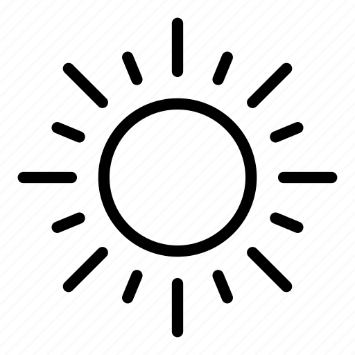 brightness, illumination, light, star, sun, weather icon