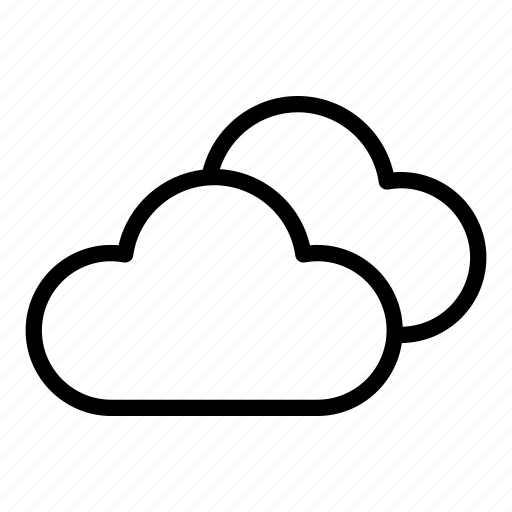 cloud, clouds, cloudy, meteorology, sky, storage, weather icon