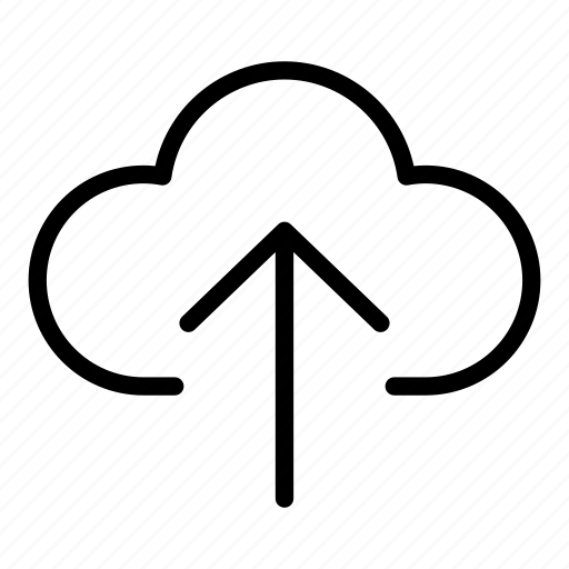 cloud computing, cloud storage, data storage, up arrow, upload cloud, uploading icon