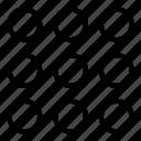 apps, circles, circular, grid, menu, options, setup icon
