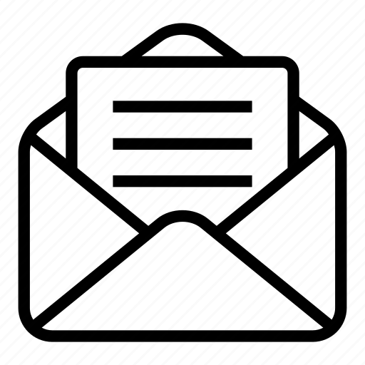 email, envelope, letter, mail, message, open email, web icon