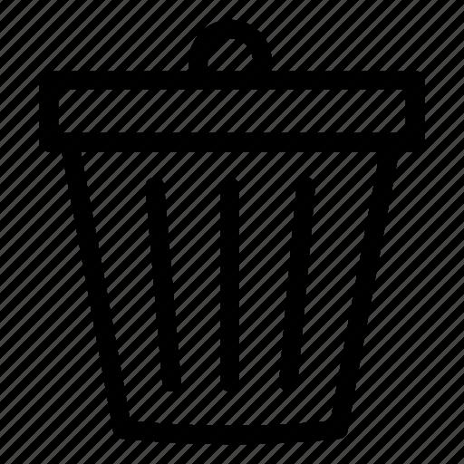 can, delete, trash, trash can, ui icon