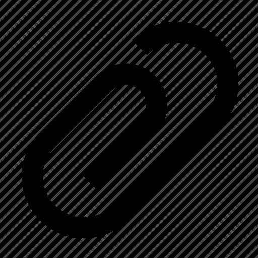 attach, attachment, clip, link, paper, paperclip, pin icon