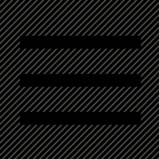 bar, categories, category, line, list, menu, text icon