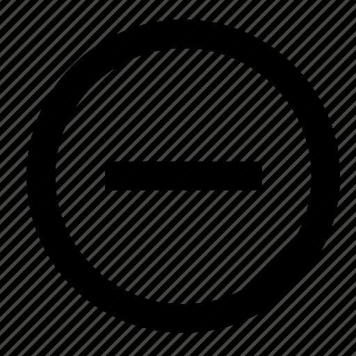 cancel, close, delete, less, minus, remove, zoom icon