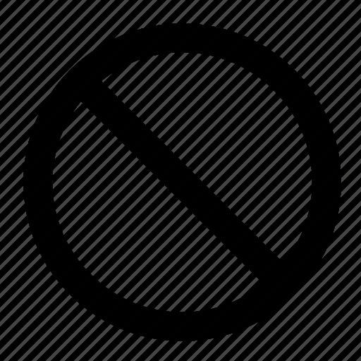 close, delete, disallow, not allowed, prohibit, prohibition, stop icon