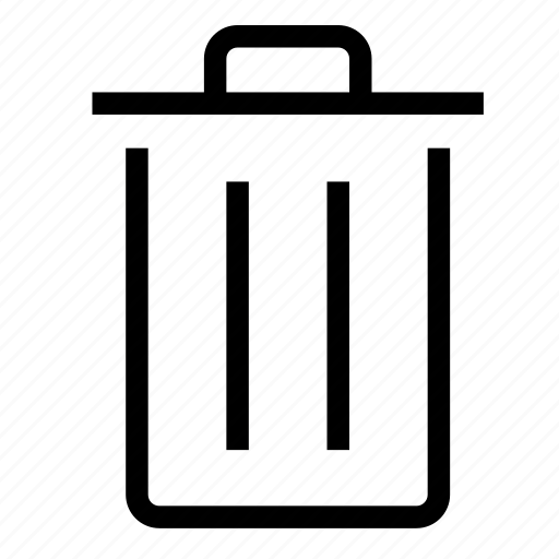 bin, can, delete, garbage, recycle, remove, trash icon
