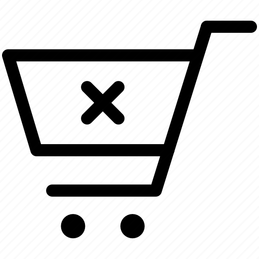 basket, buy, cart, leave, remove, sell, shopping icon
