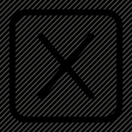cancel, close, delete, deselect, discard, none, remove icon
