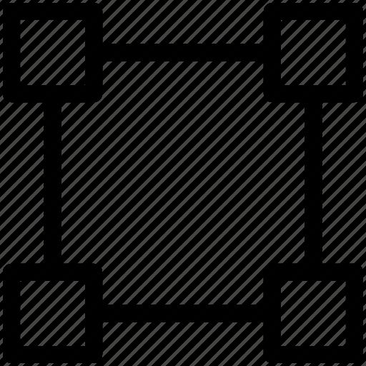 computer, design, element, graphics, selection, shape, square icon