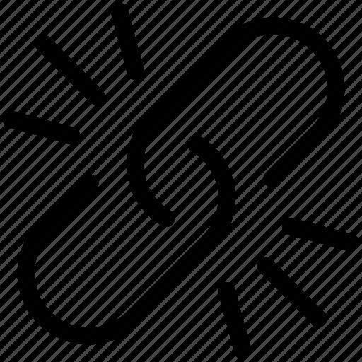 broken, disconnect, hyperlink, link, linked, url, web icon