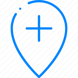 add, location, map, marker, navigation icon