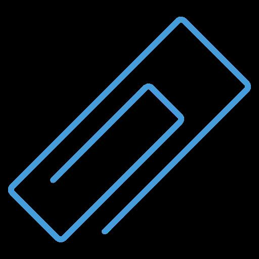 attachment, blue, free, outline, ui icon