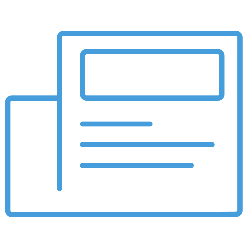 blue, free, news, outline, ui icon