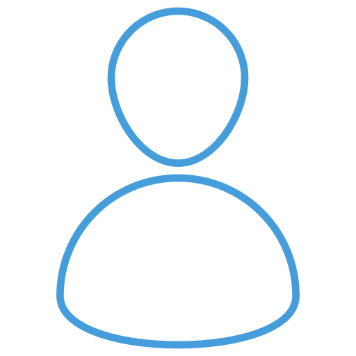 blue, free, outline, people, profile, ui icon