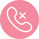 call, cancel, phone icon