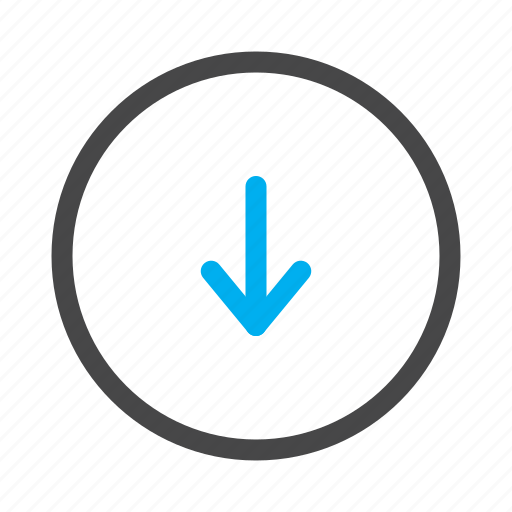 arrow, direction, down, download icon