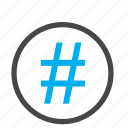 hash, hashtag, number icon