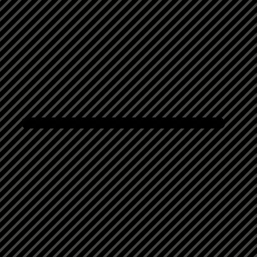 clear, collapse, delete, minus, remove, subtract icon