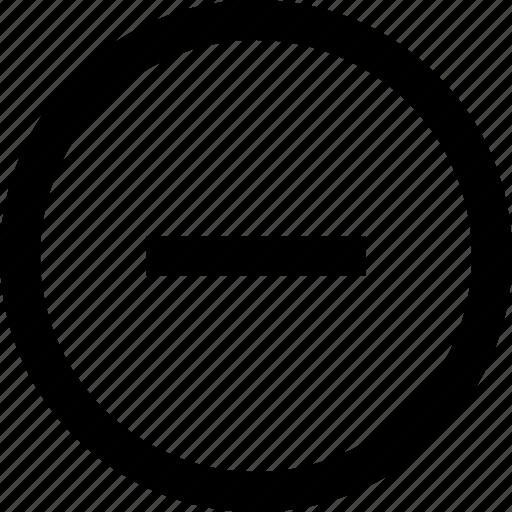 interface, minus, ui icon