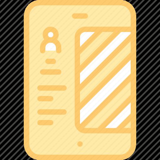 account, app, dashboard, interface, menu, mobile icon