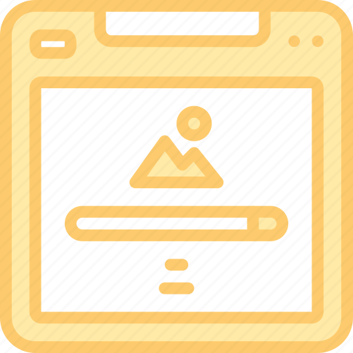 information, magnifier, page, picture, search, web, website icon