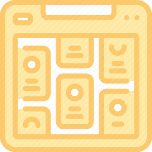 layout, page, ui, web, website, wireframe icon