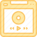 audio, music, page, player, sound, website icon