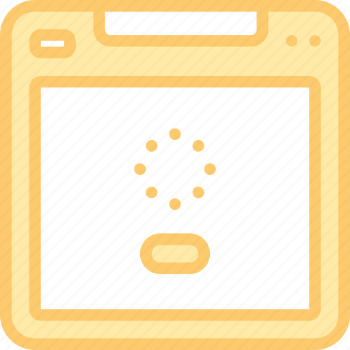 interface, load, loading, page, ui, wait, website icon