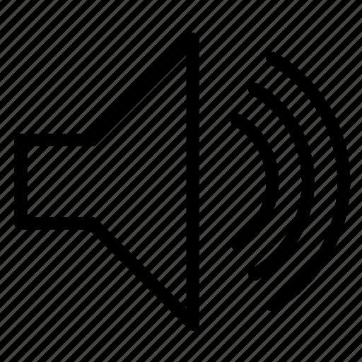audio, loud, music, sound, speaker icon