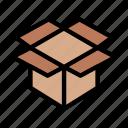 box, carton, package, parcel, open