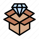 package, delivery, parcel, diamond, quality