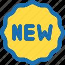 badge, emblem, new, product, review