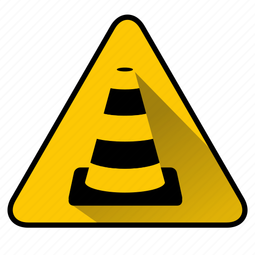 cone, construct, maintenance, road sign, sign, traffic cone, under construction icon